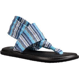 Sanük Yoga Sling 2 Prints Sandals Women Blue Topaz Island Stripe